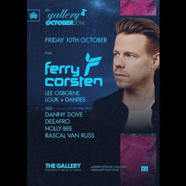 download → Ferry Corsten - Live at The Gallery Ministry Of Sound London UK, 720p Stream - 10-Oct-2014
