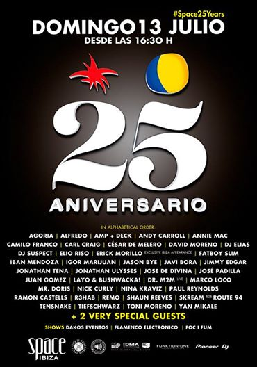 download → Carl Craig, Tiefschwarz, Layo & Bushwacka!, Annie Mac, Jose De Divina & Shaun Reeves - Live At Space 25th Anniversary (Ibiza) - 13-Jul-2014