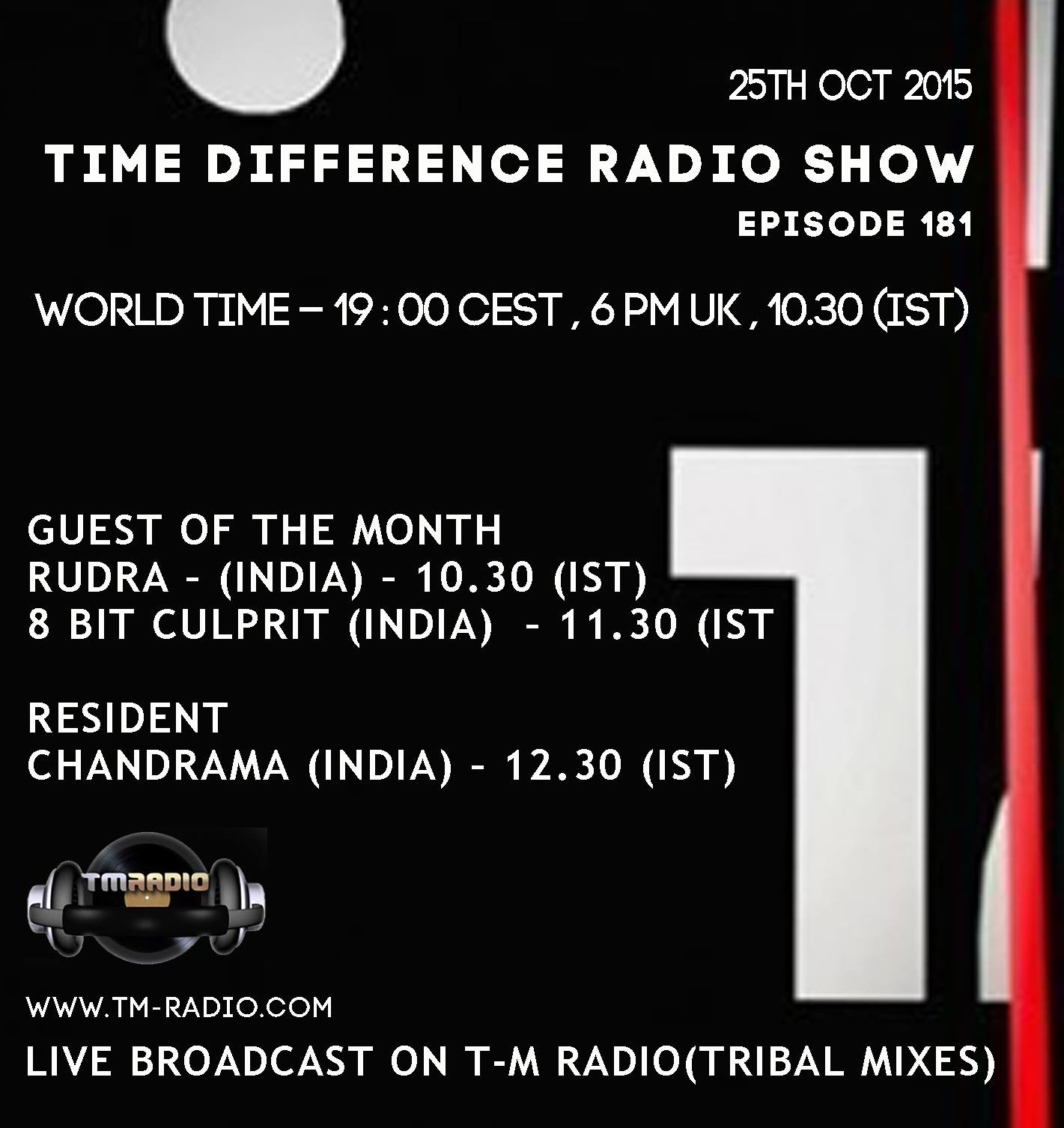 download → 8-Bit Culprit, Rudra, Chandrama - Time Difference 181 on TM Radio - 25-Oct-2015