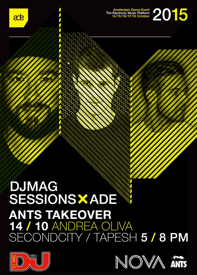 download → Andrea Oliva, Secondcity, Tapesh - live at DJ Mag Sessions, ANTS Takeover, ADE 2015 - 14-Oct-2015
