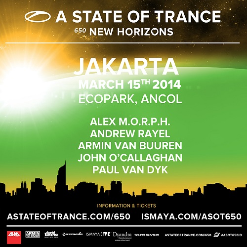 download → Armin Van Buuren, Paul Van Dyk, John O Callaghan, Alex M.O.R.P.H. & Andrew Rayel - Live At ASOT 650, Eco Park (Jakarta, Indonesia) - 15-Mar-2014