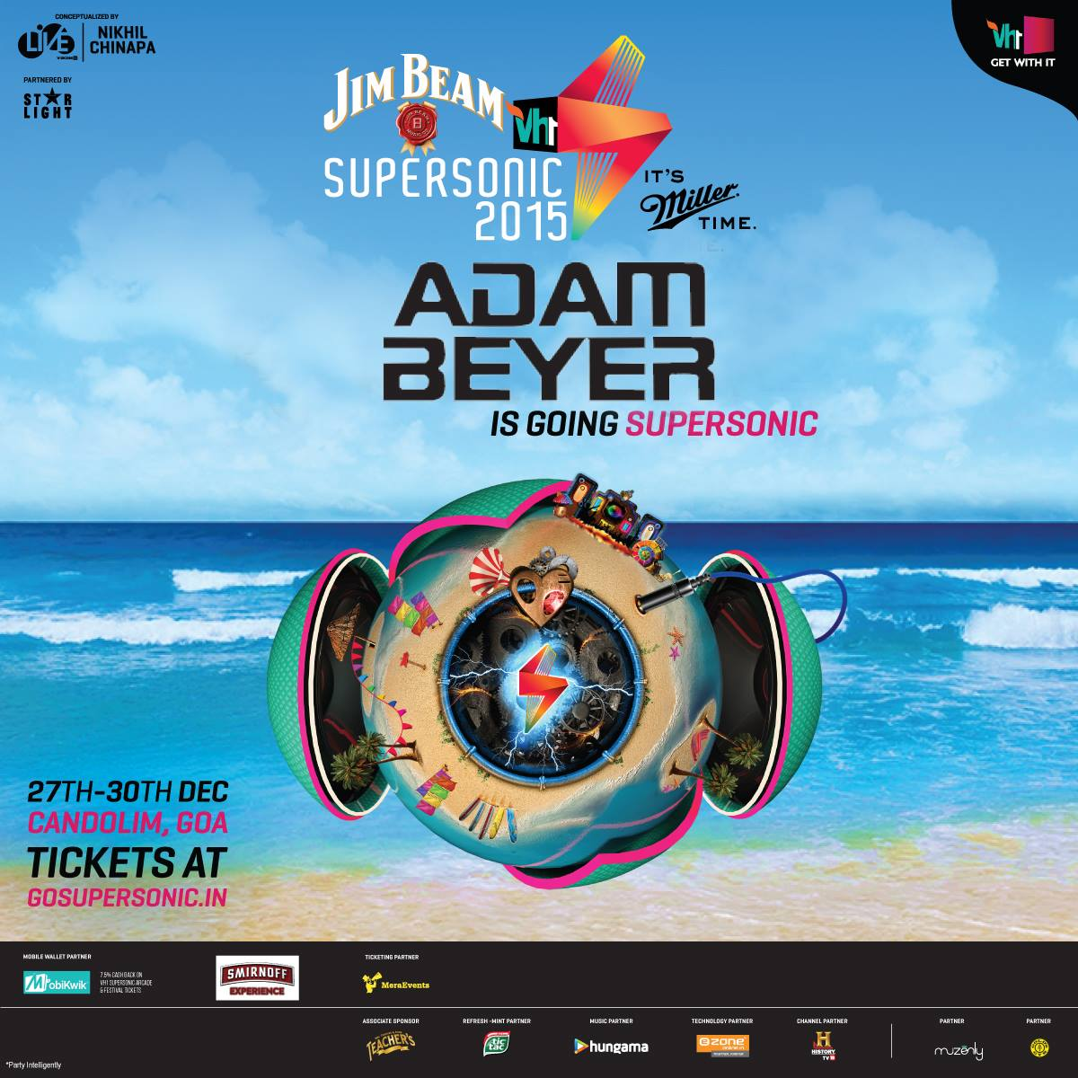 download → Adam Beyer - live at VH1 Supersonic 2015 (Goa, India) - 27-Dec-2015