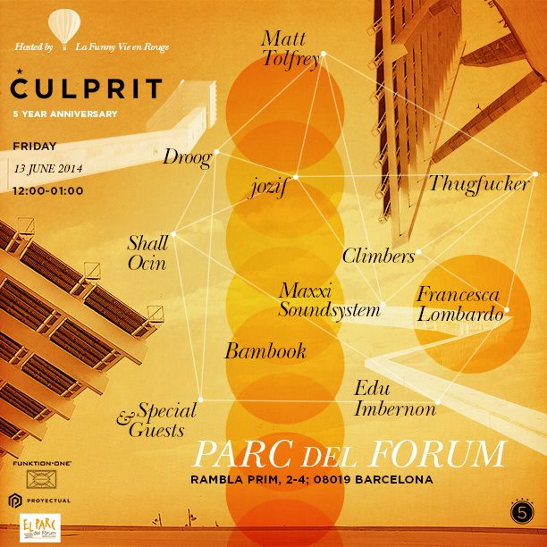 download → Adriatique, Edu Imbernon, Thugfucker, Matt Tolfrey B2B Jozif, etc - Culprit 5 Year Anniversary, Parc Del Forum, Barcelona - 13-Jun-2014