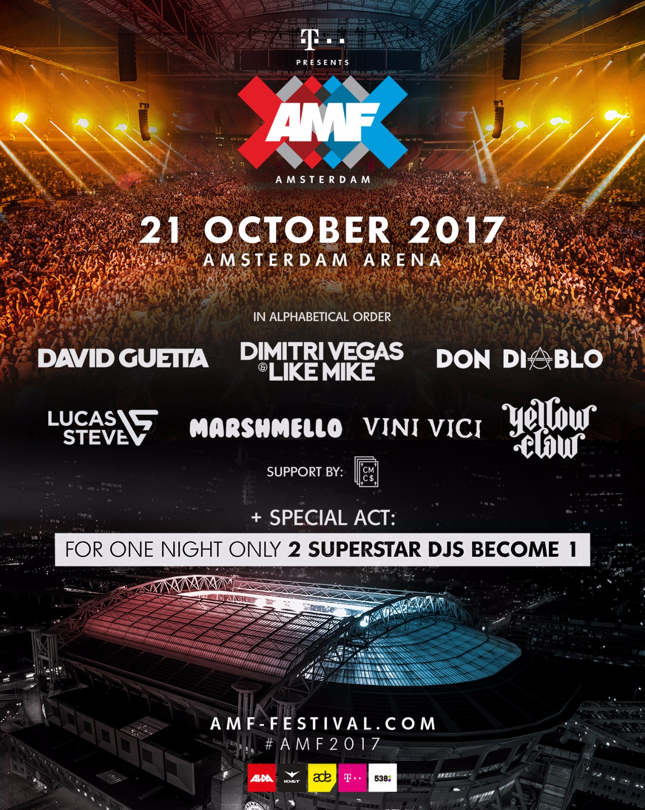 download → Armin Van Buuren B2B Hardwell, Dimitri Vegas & Like Mike, Marshmello, Yellow Claw, Vini Vici, Don Diablo - live at Amsterdam Music Festival (ADE 2017) - 21-Oct-2017