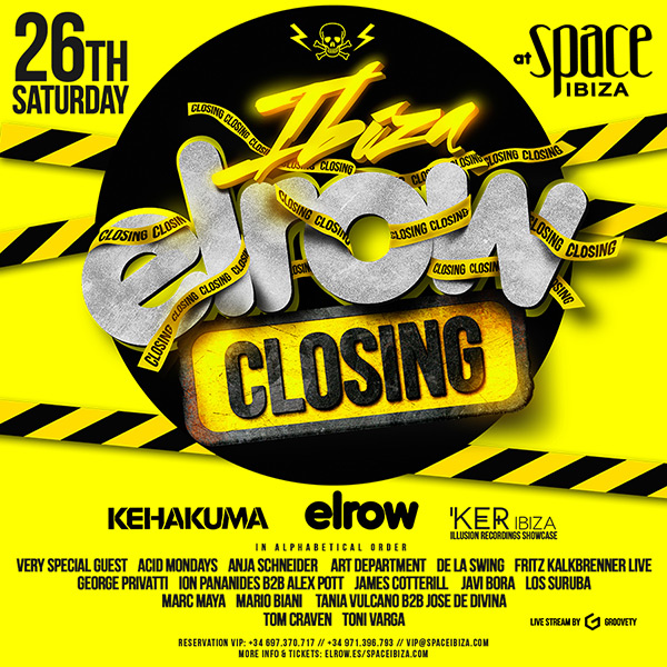 download → sets from ELRow 2015 Closing Party, Ibiza - 26-Sep-2015
