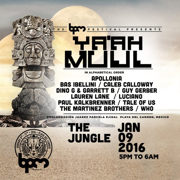 download → Apollonia - live at Ya'ah Muul, The Jungle (The BPM 2016, Mexico) - 09-Jan-2016