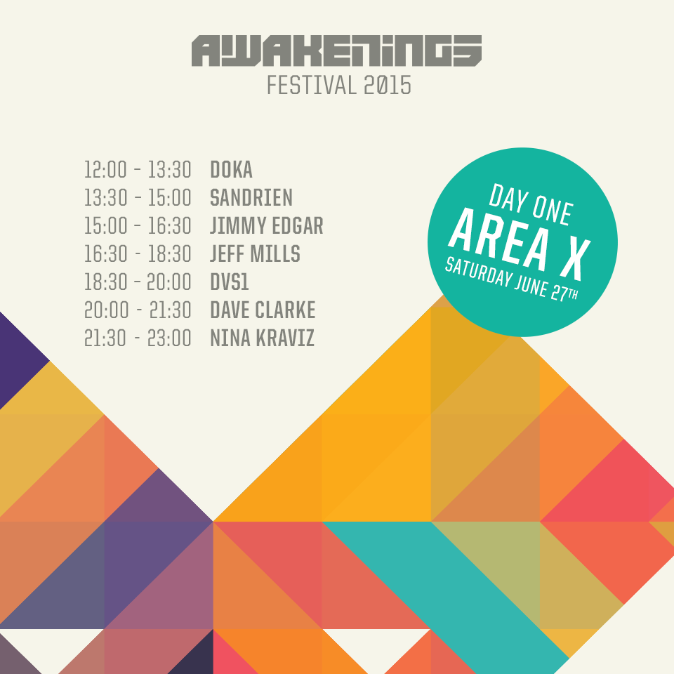 download → Sandrien - live at Awakenings 2015, Area X, Amsterdam - 27-Jun-2015