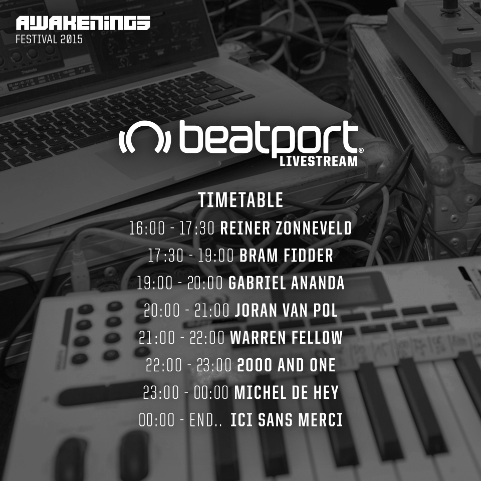 download → Reinier Zonneveld - live at Awakenings 2015, Beatport Lounge, Amsterdam - 27-Jun-2015
