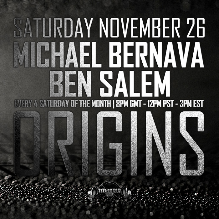 download → Ben Salem & Michael Bernava - Origins EP08 on TM Radio - 26-Nov-2016
