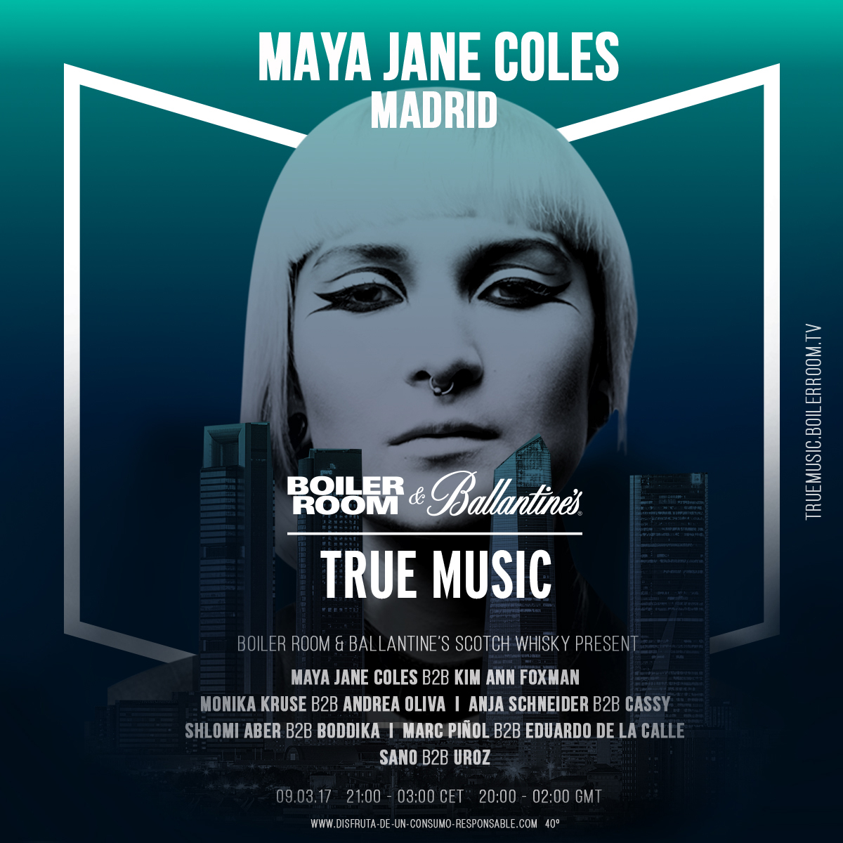 download → Maya Jane Coles B2B Kim Ann Foxman, Anja Schneider B2B Cassy, Monika Kruse B2B Andrea Oliva, Shlomi Aber B2B Boddika,etc - live at Boiler Room & Ballantine's True Music (Madrid, Spain) - 1080p HD - 09-Mar-2017