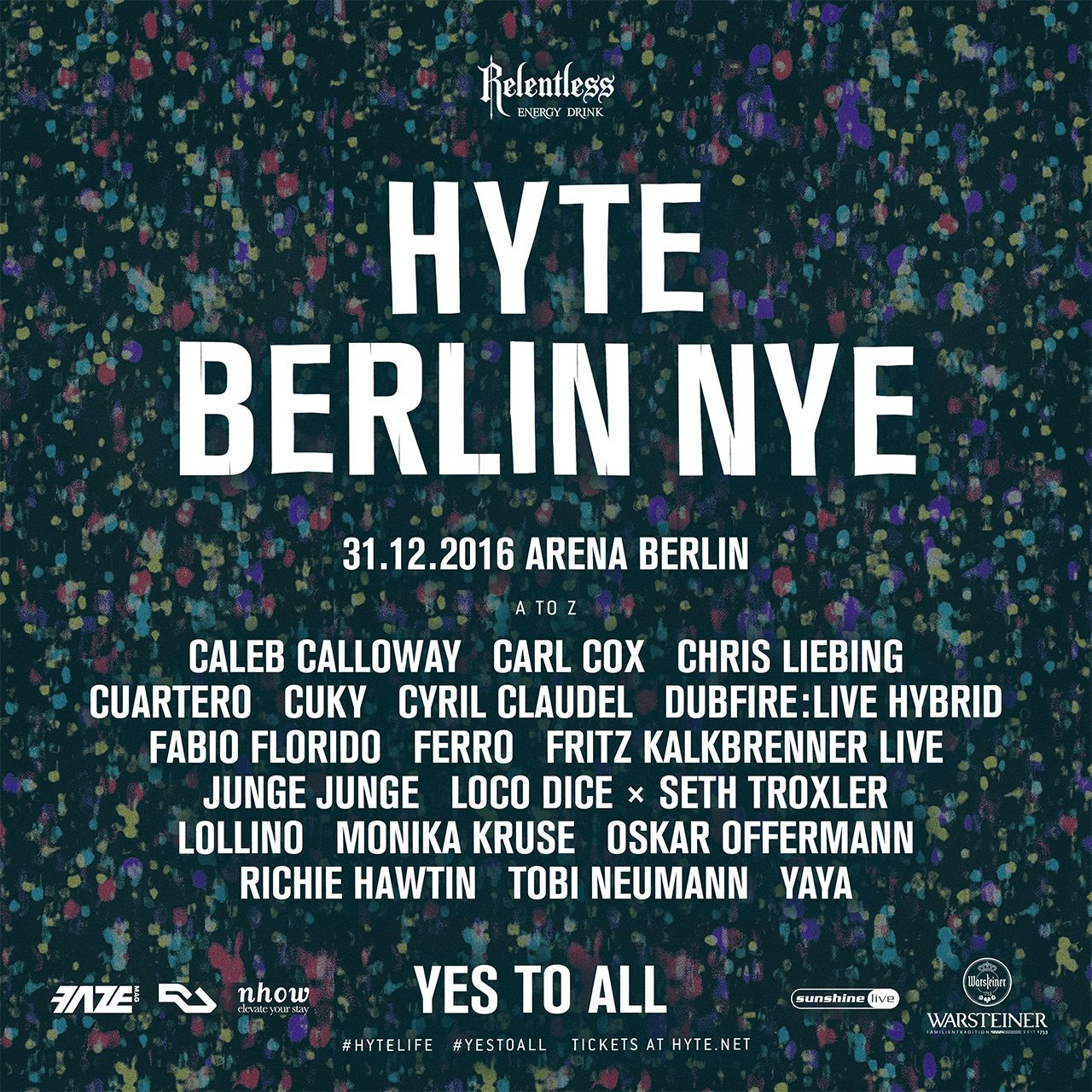 download → Carl Cox - live at HYTE NYE (Berlin, Arena Club) - 31-Dec-2016