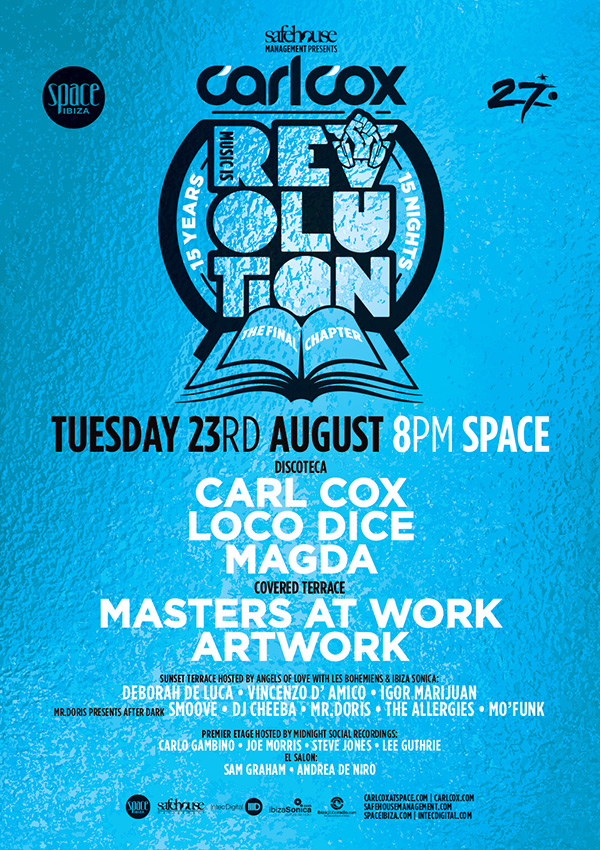 download → Carl Cox - live at Music is Revolution, Week 11 (Space, Ibiza) - 23-Aug-2016