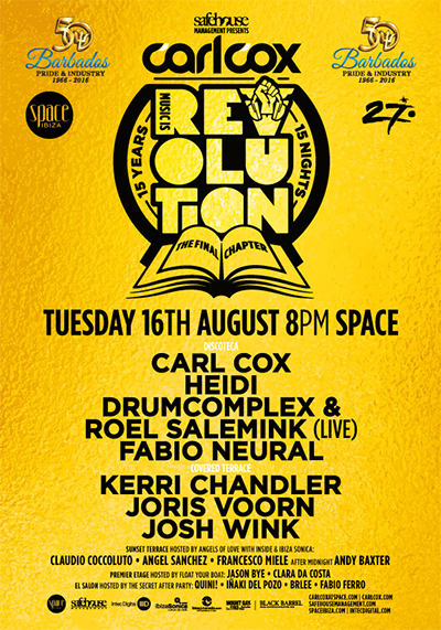 download → Kerri Chandler - live at Music is Revolution, Week 10 (Space, Ibiza) - 17-Aug-2016