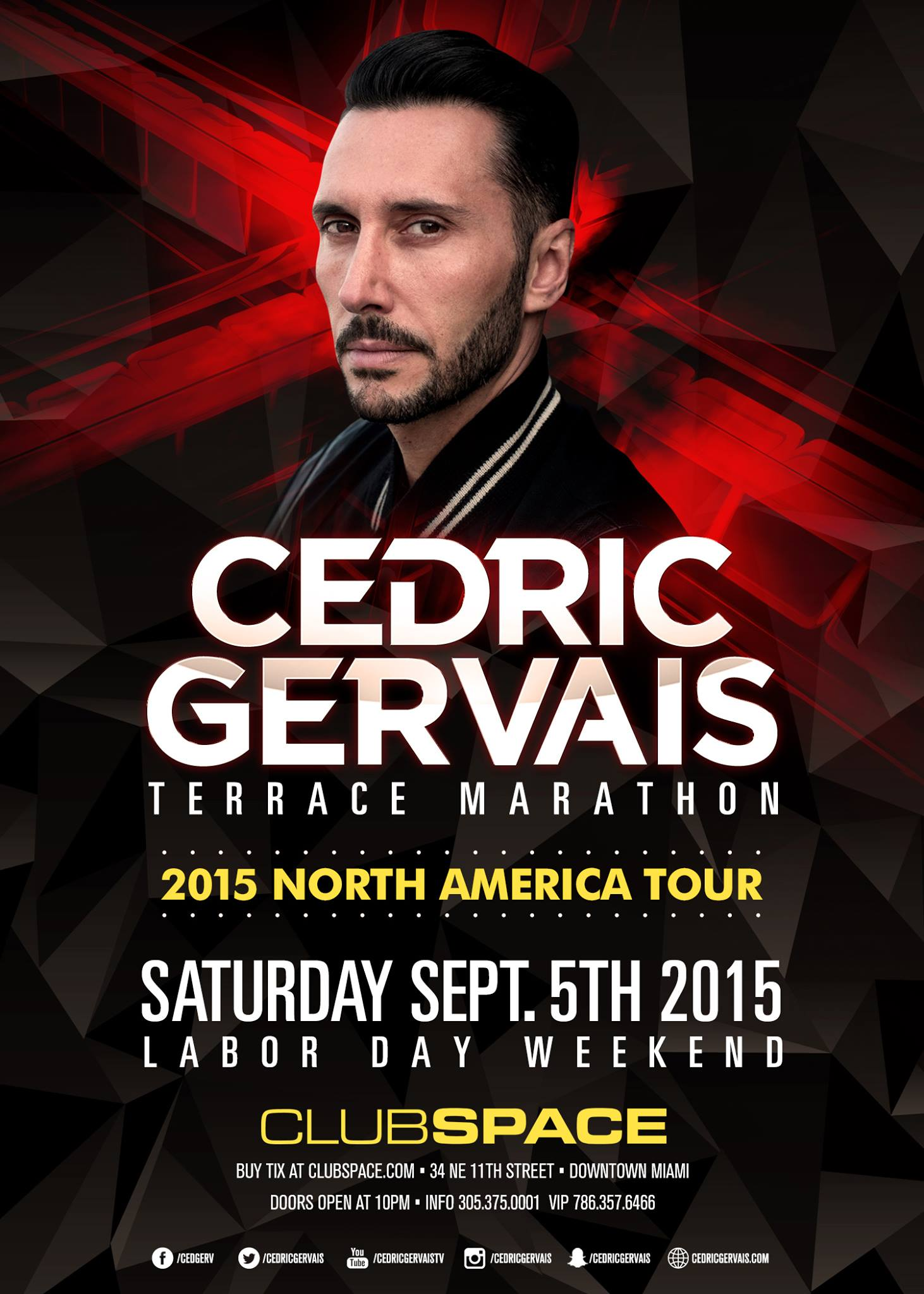 download → Cedric Gervais - live at Club Space Terrace Afterhours, Miami - 05-Sep-2015