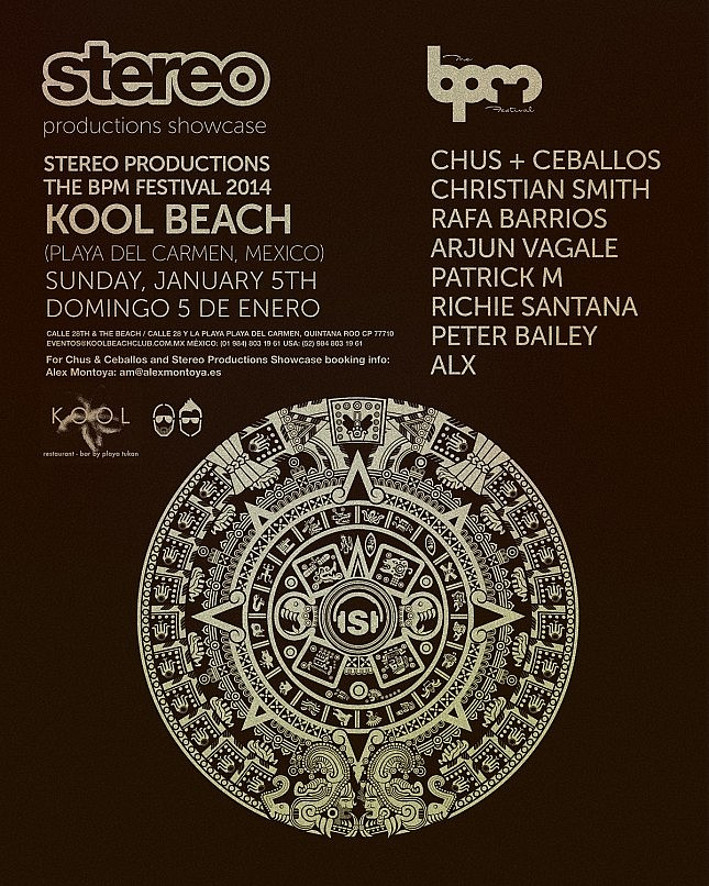 download → Chus & Ceballos - Live at Stereo Productions Showcase, Kool Beach (BPM Festival 2014, Playa del Carmen) - 05-Jan-2014