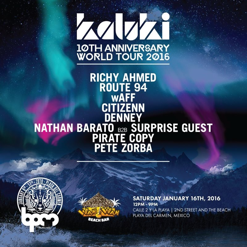 download → Citizenn B2B Denney - live at Kaluki, Wah Wah Beach Bar (The BPM 2016, Mexico) - 16-Jan-2015