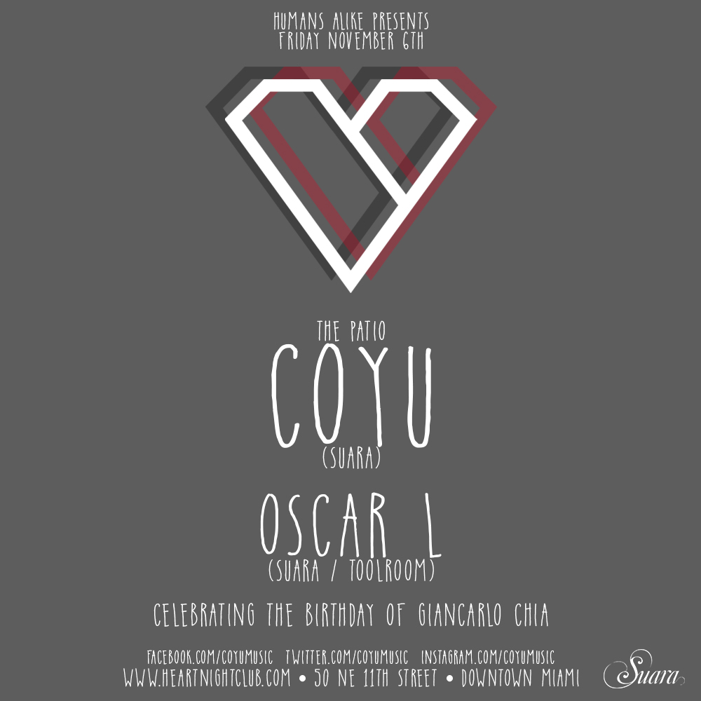 download → Coyu - live at Heart Nightclub, Miami - 06-Nov-2015