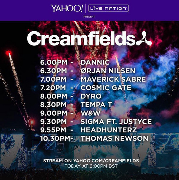 download → Various DJs - Live at Creamfields Festival UK Day1, 720p Stream - 28-Aug-2015