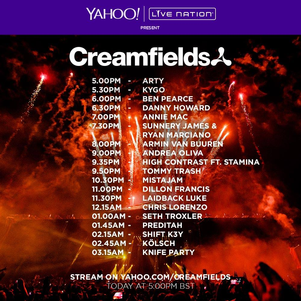 download → Various DJs - Live at Creamfields Festival UK Day2, 720p Stream - 29-Aug-2015