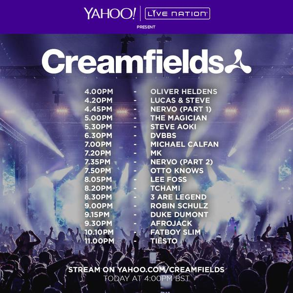 download → Various DJs - Live at Creamfields Festival UK Day3, 720p Stream - 30-Aug-2015