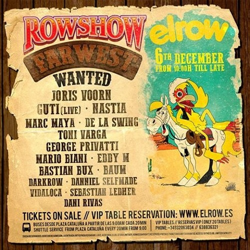 download → Darkrow - live at Elrow Farwest (Barcelona) - 06-Dec-2015