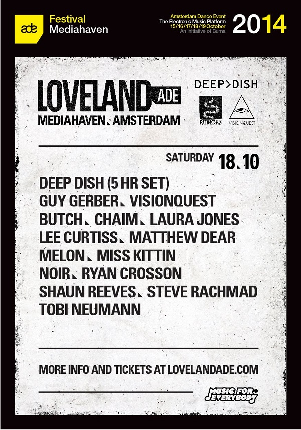 download → Deep Dish - live at Loveland 2014 (Amsterdam Dance Event) - 18-Oct-2014