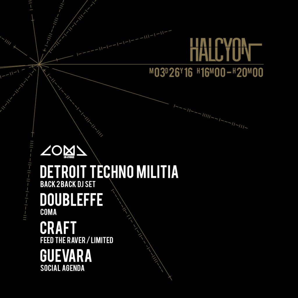 download → Detroit Techno Militia - live at Coma In Store, Halcyon - 26-Mar-2016