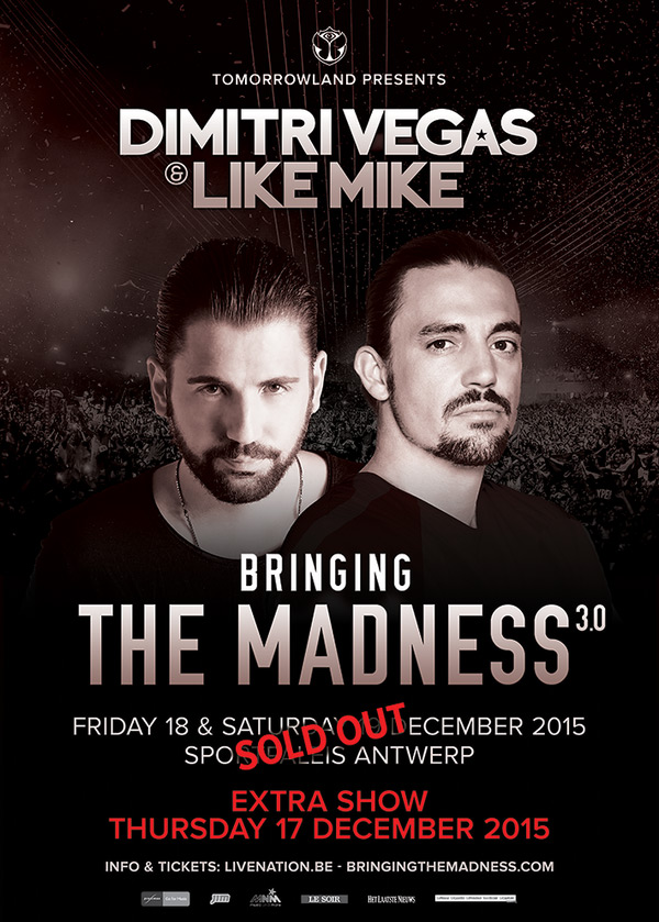 download → Dimitri Vegas & Like Mike - Live at Bringing The Madness 3.0 (Antwerp, Belgium) - 19-Dec-2015