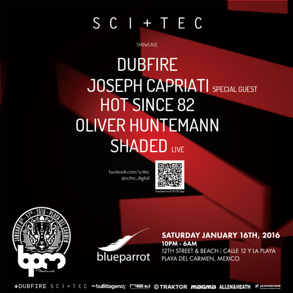 download → Dubfire b2b Joseph Capriati - live at SCI+TEC Showcase, Blue Parrot (The BPM 2016, Mexico) - 16-Jan-2016
