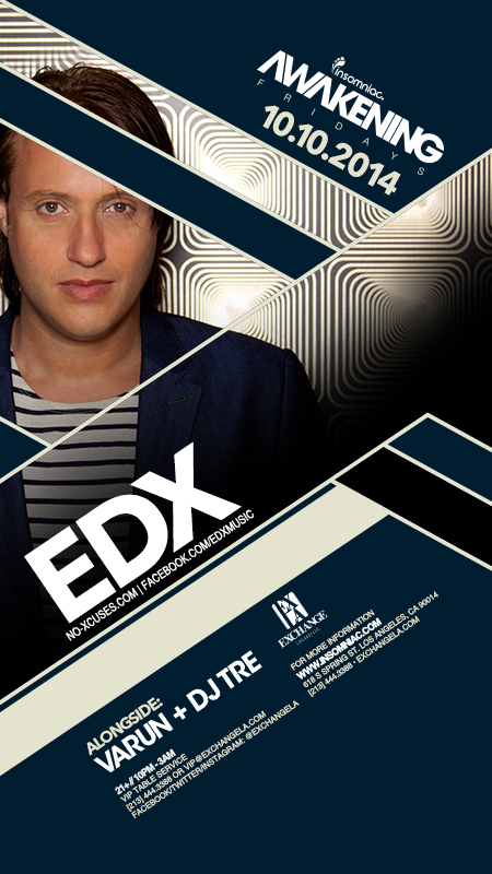 download → EDX - Live at The Exchange Los Angeles USA, 720p Stream - 10-Oct-2014