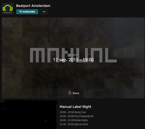 download → livesets from Manual Label Night at Beatport Amsterdam - 17-Sep-2015