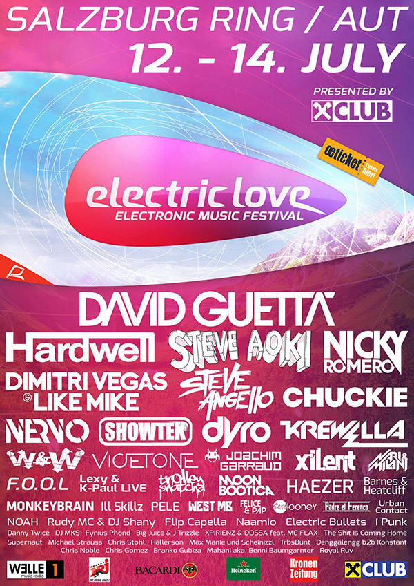 download → Armin Van Buuren, Dimitri Vegas and Like Mike, Bassjackers, Lil Jon, Ummet Ozcan, Sunnery James and Ryan Marciano, etc - live at Electric Love Festival 2014, Austria - 12-Jul-2014