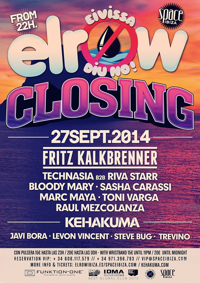 download → Technasia VS Riva Starr, Toni Varga, Marc Maya, Raul Mezcolanza - live at Elrow Closing Party 2014 (Space, Ibiza) - 27-Sep-2014
