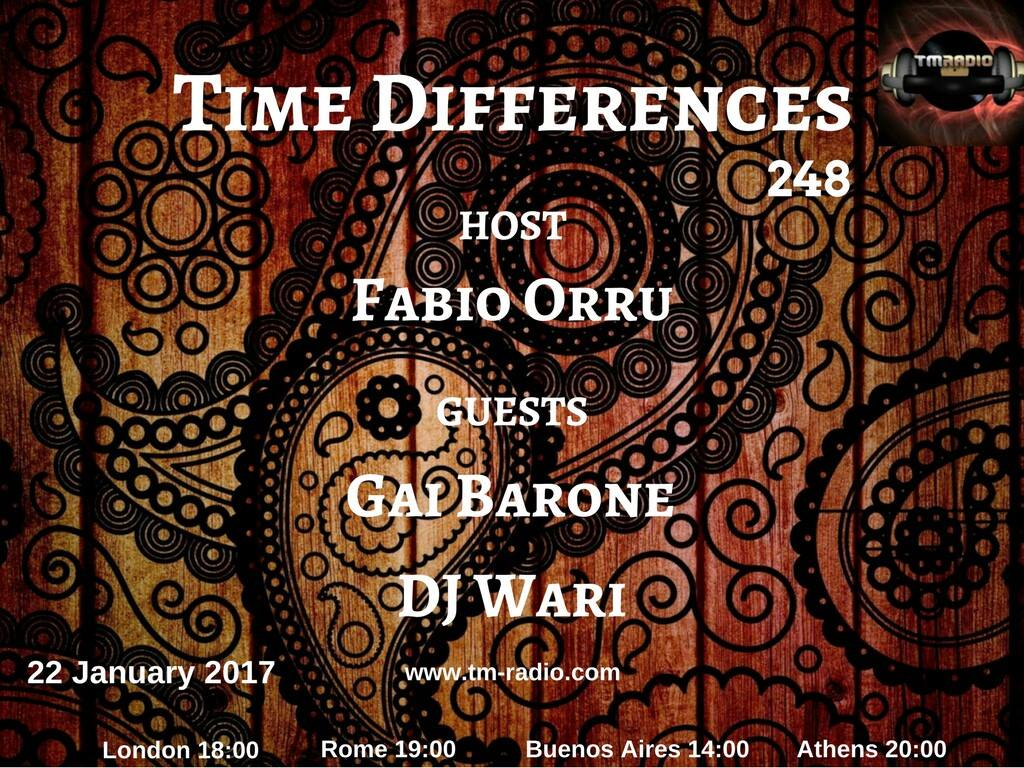 download → Gai Barrone, Fabio Orru, DJ Wari - Time Differences 246 on TM Radio - 22-Jan-2017