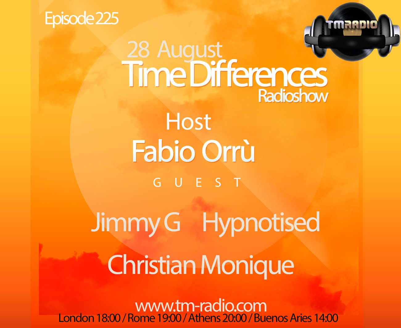 download → Fabio Orru, Hypnotized, Christian Monique, Jimmy G - Time Differences 225 on TM Radio - 28-Aug-2016