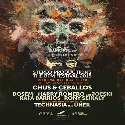 download → Technasia b2b Uner  - Live At Stereo Productions, Blue Parrot (The BPM Festival 2015, Mexico) - 09-Jan-2015