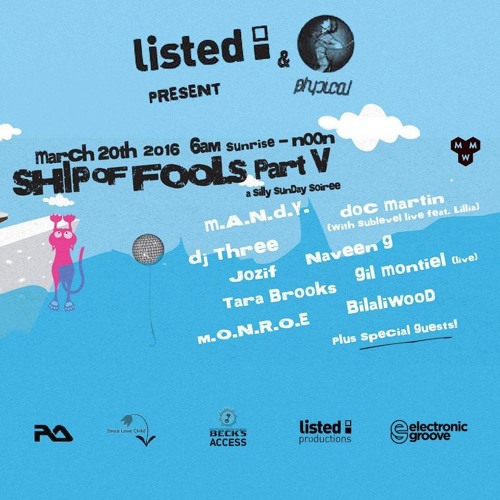 download → Gil Montiel - live at Listed & Get Physical (Ship Of Fools 2016) - 20-Mar-2016