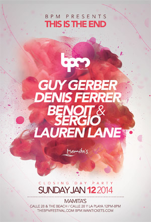 download → Guy Gerber - live at This is the End, Mamitas Beach Club (BPM Festival 2014, Playa del Carmen) - 12-Jan-2014