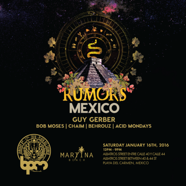 download → Guy Gerber - live at RUMORS Showcase, Martina Beach (The BPM 2016, Mexico) - 16-Jan-2016
