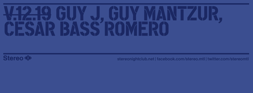 download → Guy Mantzur - Live At Stereo (Montreal) - 19-Dec-2014