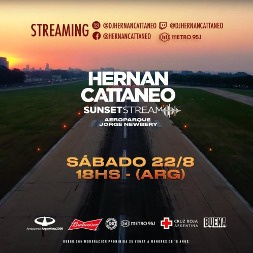download → Hernan Cattaneo - Live @ Sunset Stream Aeroparque Jorge Newbery (Buenos Aires, Argentina) - 22-Aug-2020