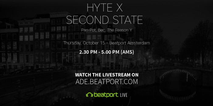 download → Pan-Pot, The Reason Y, BEC - HYTE x Second State, Beatport Studio Amsterdam, ADE 2015 - 720p HD - 15-Oct-2015