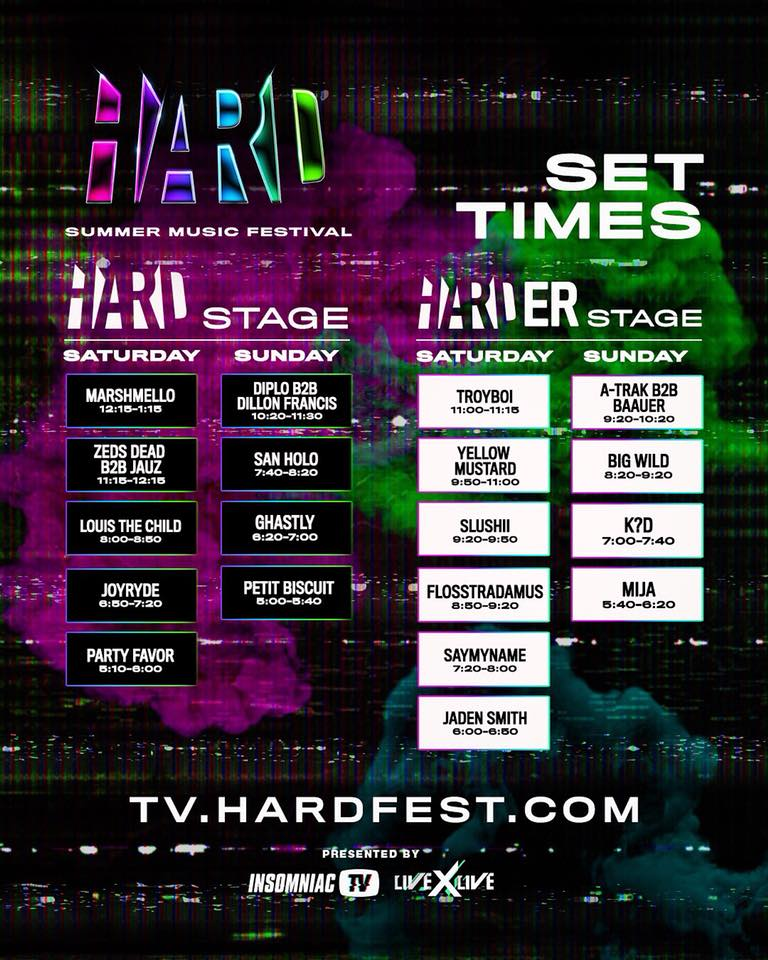 download → Marshmello, Zeds Dead B2B Jauz, Flosstradamus, Slushii, Yellow Mustard, Louis The Child, etc - Hard Summer Music Festival 2018 (USA) - 1080p HD - 04-Aug-2018