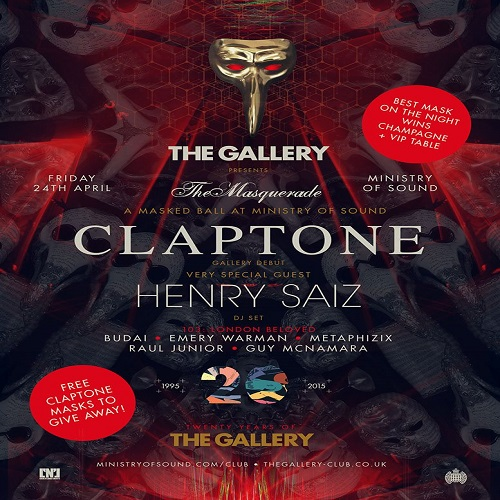 download → Henry Saiz  - Live At The Gallery pres. The Masquerade, Ministry Of Sound (London) - 24-Apr-2015