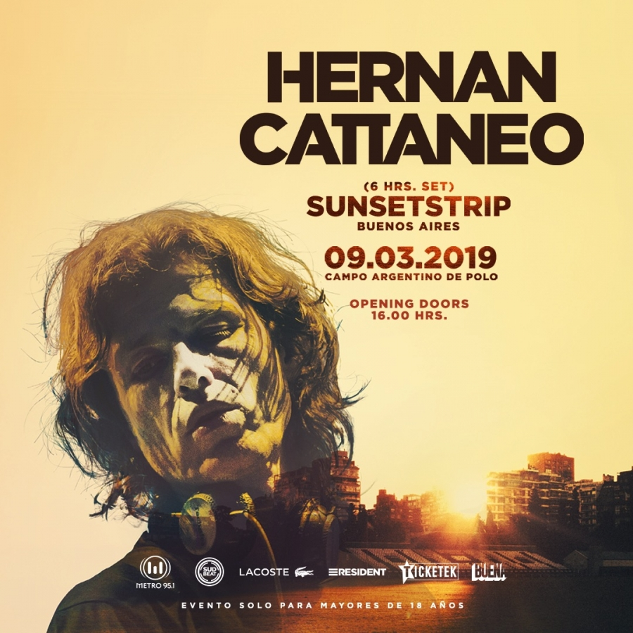 Hernan Cattaneo - Live @ Sunset Strip, Campo Argentino de Polo, Buenos Aires - 09-Mar-2019