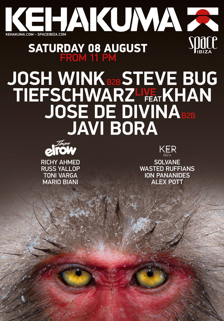 Tiefschwarz feat. Khan - Kehakuma at Space, Ibiza - 720p HD - 08-Aug-2015