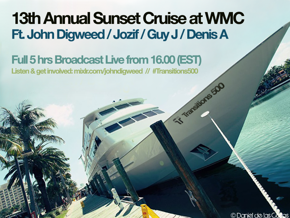 download → John Digweed, Guy J, Jozif & Denis A - Live At 13th Annual Sunset Cruise, Transitions 500 (WMC 2014, Miami) - 27-Mar-2014