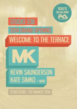 download → Kate Simko, Kevin Saunderson, MK - live at Studio 338 Terrace Opening Party, London - 01-Mar-2014
