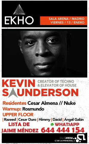 Kevin Saunderson - Live at Ekho Club (Madrid) - January 2017