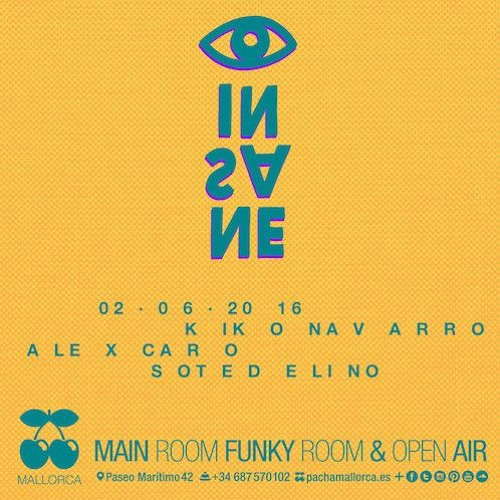 download → Kiko Navarro - live at Insane, Pacha (Mallorca) - 02-Jun-2016